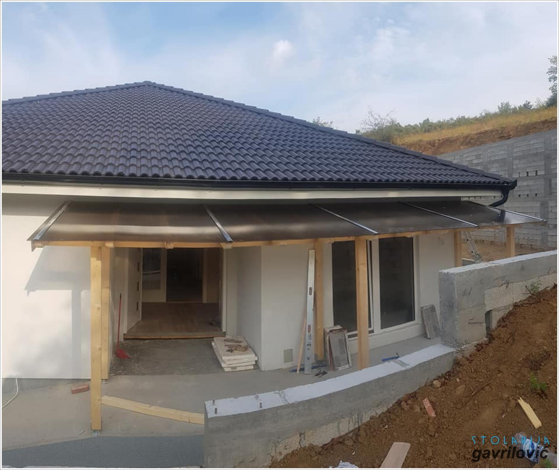 Drvena nadstrešnica (Trem) - Stolarija Gavrilović