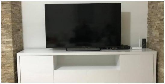 TV komoda bela - stolarija Gavrilović